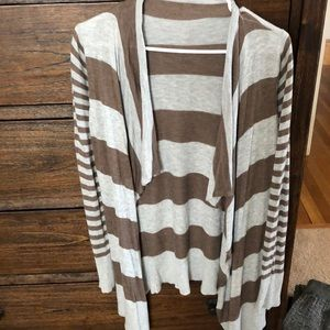 Grey/ brown stripe sweater